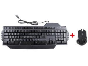 LED Illuminated Ergonomic USB Wired Multimedia Backlight Backlit Gaming Keyboard w/ E-3lue E-blue Cobra II Mazer 2500DPI ...