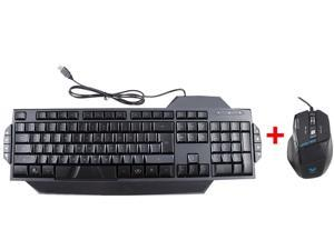 LED Illuminated Ergonomic USB Wired Multimedia Backlight Backlit Gaming Keyboard w/ USB Gaming Wired 7 Buttons/ 7D Optical ...