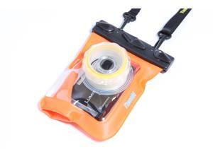 Tteoobl GQ-318 20M Underwater/ Waterproof Protective Diving Bag for HD Card Camera - Orange
