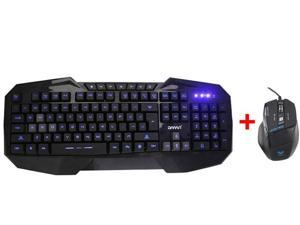 AGPtek LED Illuminated Ergonomic USB Wired Multimedia Blue Backlight Backlit Gaming Keyboard for PC w/ USB Wired Optical ...