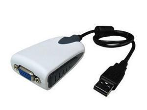 New USB 2.0 to VGA Dual Display Adapter Multi Monitor Windows 2000 XP Vista Win 7 Linux