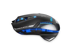 AGPtek E-3lue Mazer II 2500DPI USB 2.4GHz Wireless Optical Gaming Mouse LED for PC Laptop (Black)