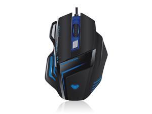 2000DPI Optical USB Wired Backlit Pro Gaming Mouse - Programmable Buttons, Adjustable DPI, 7 Button for PC Laptop Mac