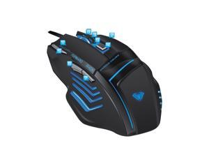 2000 DPI LED Optical USB Wired Backlit Gaming Mouse - Programmable, 7D