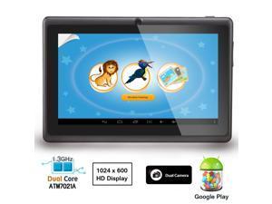 "AGPtek 7"" Android 4.2 Tablet PC - 4GB Wi-Fi Dual Core 512MB DDR3 Memory 2160P 1024x600 Dual Camera + 8GB TF Card w/ 50GB ..."