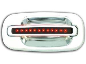 GMC 2000-2006 Suburban / Yukon / XL LED Door Handle, Rear, Chrome (2ps/set) Red LED/Smoke Lens No Key Hole IPCW 1 pair