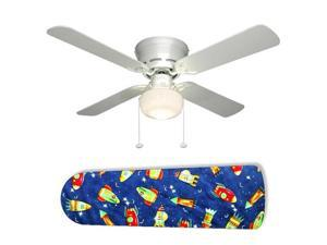 """Rocket Race Outer Space 42"""" Ceiling Fan with Lamp"""