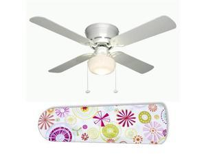 "Hannah Star Flower 42"" Ceiling Fan with Lamp"