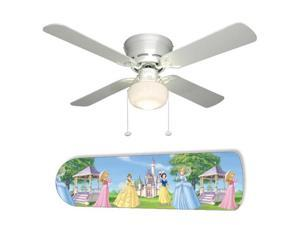"Disney Princess Princesses Blue 42"" Ceiling Fan with Lamp"