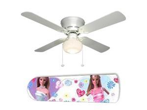 "Fashion Barbie 42"" Ceiling Fan with Lamp"
