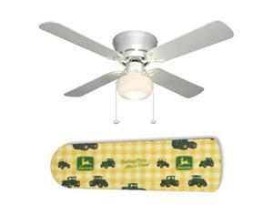 """Classic John Deere 42"""" Ceiling Fan with Lamp"""
