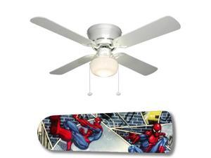 "Spiderman Superhero 42"" Ceiling Fan with Lamp"