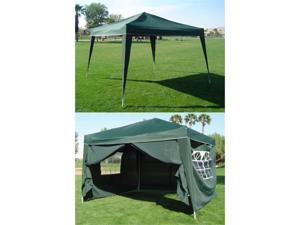 Palm Springs 10 x 10 Pop-up GREEN Canopy w/4 Side Walls EZ to set up