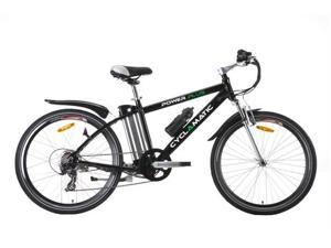 Cyclamatic Power Plus Mountain Electric Bike with Lithium-Ion Battery - Black
