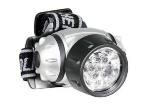 7 LED Headlamp w/ up to 350 hrs Battery Use and 100k hrs Bulb Life