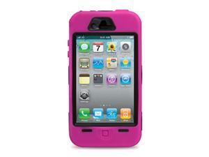 GPCT Pen+Hot Pink Rugged Rubber Matte Hard Case Cover For iPhone 4G 4S + Screen Guard