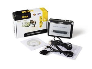 GPCT Portable Cassette Tape-To-MP3 USB Converter/Player with Headphones and Software CD for PC