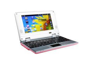 Pink Kocaso NB726A 4GB Android 4.0 1GB RAM 1.2Ghz WiFi Mini Netbook Notebook Laptop with Bag and Mouse