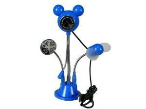 NEW 5MP Flexible USB PC LED Webcam Microphone W/ Fan