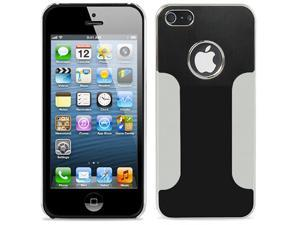Black ~ Deluxe Metal Aluminum Chrome Hard Case for Apple iPhone 5 + Screen Protector + Stylus