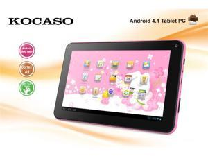 "BRAND NEW! KOCASO M736 7"" High Resolution Screen 800*480 Android 4.1 OS 1.2Ghz Built-in 4GB Memory Tablet PC Pink"