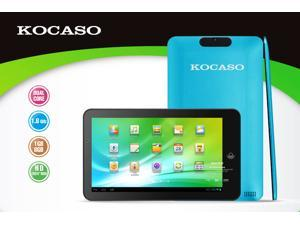 Kocaso M772 Dual Core 1.6Ghz Dual Camera 1GB DDR3  8GB Memory Android 4.1 Capacitive Tablet PC (Blue), Support external 3G ...