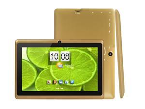 "MID DX752 7"" Android 4.2 Dual Camera Capacitive Touch Tablet PC 1.2Ghz WiFi - Gold Brown"