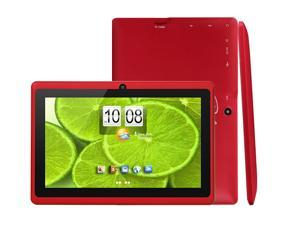 "MID DX752 7"" Android 4.2 Dual Camera Capacitive Touch Tablet PC 1.2Ghz WiFi - Red"
