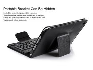 GPCT466  PU Leather Wireless Bluetooth Keyboard Case Folio Cover for iPad Mini with stand