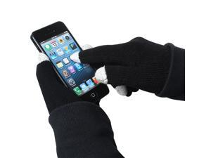 New One-Size-Fits-All Winter 3-Tip Touch Screen Warm Hands Gloves Black