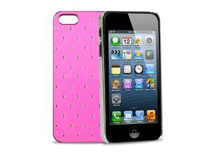 GPCT Apple iPhone 5 Aluminum Bling Crystal Diamond Hard Back Luxury Case Cover (Pink)