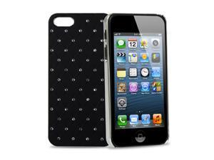 GPCT Apple iPhone 5 Aluminum Bling Crystal Diamond Hard Back Luxury Case Cover (Black)
