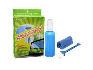 GPCT LCD,LED & LCD TV Monitor Cleaning Kit with Micro Fiber Cloth, Cleaning Brush and non-toxic Cleaning Liquid