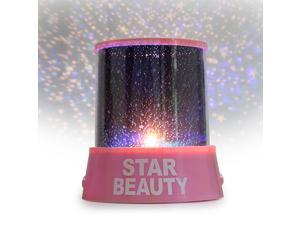 Star Master LED Light Projector Lamp - Project Stars and Moon On The Walls And Ceiling (Pink)