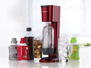 SodaStream Pure Sparkling Water & Soda Maker, Red