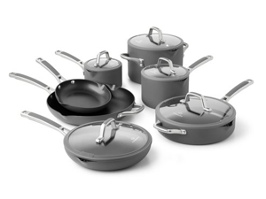Calphalon 12-pc. Nonstick Simply Calphalon Easy System Cookware Set, Charcoal Gray