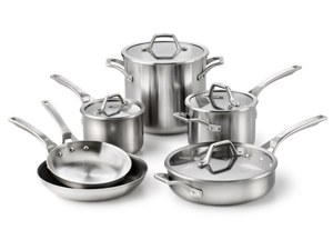 Calphalon 10-pc. Stainless Steel AccuCore Cookware Set