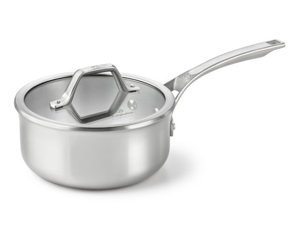 Calphalon 2.5-qt. Stainless Steel AccuCore Shallow Sauce Pan with Cover, Stainless Steel
