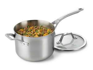 Calphalon 4-qt. Stainless Steel AccuCore Saucepan with Cover