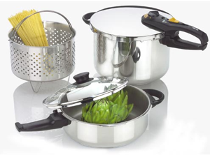 Fagor 5-pc. Duo Pressure Cooker Set