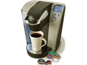 Keurig Platinum Single Cup Home Coffee Brewer, Black/Chrome