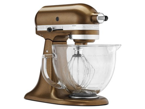 KitchenAid KSM155GBQC Artisan Design Series 5-Quart Tilt-Head Stand Mixer with Glass Bowl Antique Copper