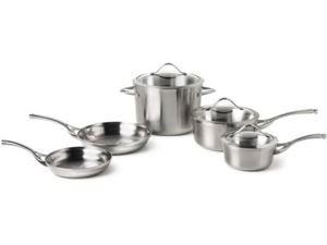 Calphalon 8-pc. Stainless Steel Contemporary Stainless Cookware Set