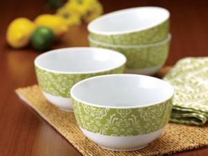Rachael Ray Set of 4 Curly-Q Cereal Bowls