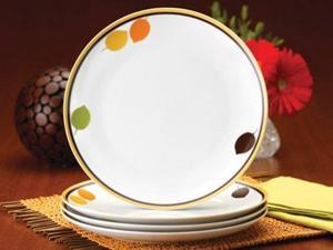 Rachael Ray Set of 4 Little Hoot Dinner Plates