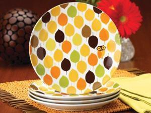 Rachael Ray Set of 4 Little Hoot Salad Plates