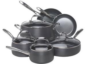 EarthPan 10-pc. Nonstick EarthPan Hard Anodized Cookware Set
