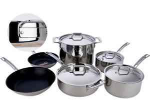 MIU France 10-pc. 5-Ply Copper Core Cookware Set