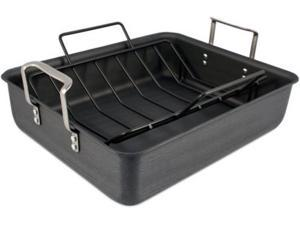 Calphalon 13x16-in. Hard-Anodized Aluminum Commercial Hard-Anodized Roasting Pan with Nonstick Rack