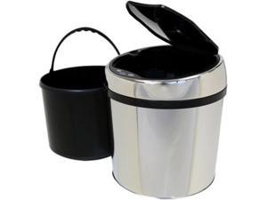 iTouchless 1.5 Gallon Round Stainless Steel Automatic Sensor Touchless Trash Can